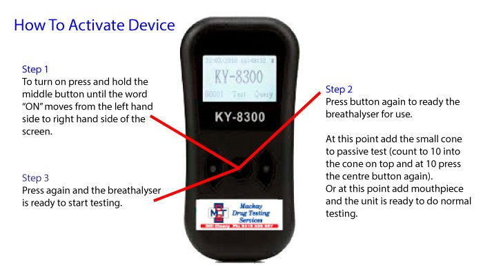 Breathalyser KY-8300 - How to activate device